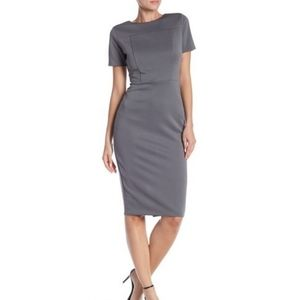 Alexia Admor | scuba midi sheath dress NWT grey